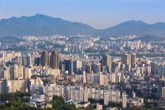 Seoul stadshorisont Fotografering för Bildbyråer