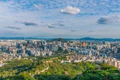 Seoul stadshorisont, Sydkorea Fotografering för Bildbyråer