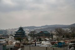 Seoul-Stadt, Südkorea stockbild