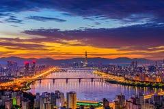 Seoul-Stadtskyline Stockbilder