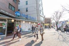 Seoul-Straßenansicht Lizenzfreies Stockfoto