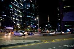 Seoul. Street. Night look. Korea royalty free stock photo