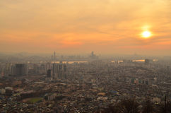 Seoul Sunset Royalty Free Stock Image
