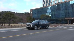 Seoul Sydkorea 15 December, 2018 Ny Hyundai palissad 2018 stock video