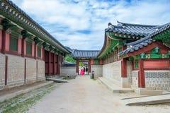 SEOUL SYDKOREA - JULI 17: Gyeongbokgung slott det bästa Royaltyfri Fotografi