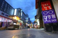 SEOUL SYDKOREA - MAJ 9: Namdaemun marknad i Seoul, Marken Royaltyfri Foto