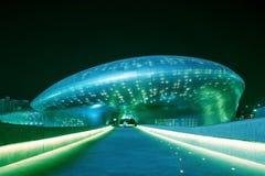 SEOUL SYDKOREA - MARS 15: Dongdaemun designPlaza Arkivfoto