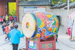 Seoul Sydkorea 28 Oktober 2015 - härlig arkitektur i Deoksu arkivfoto