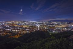 Seoul Tower and Downtown skyline in Seoul, South Korea Royalty Free Stock Images