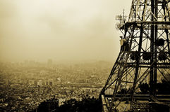Seoul tower lookout. Lookout from seoul tower over the smog covered city Stock Photo