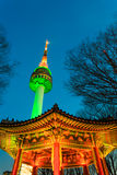 Seoul Tower. Offers panoramic views of Seoul and the surrounding areas Stock Images