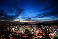 Seoul at twilight Stock Photography
