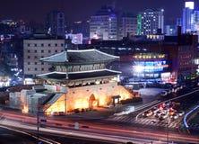 Seoul utfärda utegångsförbud för Royaltyfri Fotografi