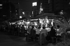Seoul vid natt royaltyfri fotografi