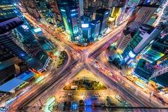 Seoul von oben Lizenzfreie Stockfotos