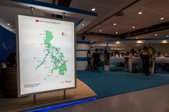 9.2017 SEP ταξίδι EXPO Φιλιππίνες θερέτρου DRTDiving σε SM μέγα Στοκ Φωτογραφία