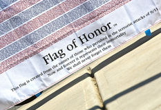 SEP 11 2011 - Flag of honor. September 11, 2011 - Jessica Kuhlman designed a 9/11 memorial at the Lowe's YMCA in Mooresville. A project that will not only earn Royalty Free Stock Photos