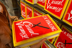 Sep 27:  J.K. Rowling's The Casual Vacancy. PARIS - September 27:  J.K. Rowling's new novel: The Casual Vacancy on sale on september 27 2012 in Paris, France Stock Images