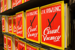 Sep 27:  J.K. Rowling's The Casual Vacancy. PARIS - September 27:  J.K. Rowling's new novel: The Casual Vacancy on sale on september 27 2012 in Paris, France Royalty Free Stock Image