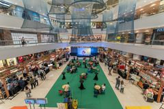 Sep 10, 2017 event hall at SM Megamall , Manila stock image