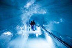 Jungfrau Ice Palace, ice cave under Jungfrau peak, Switzerland stock photo