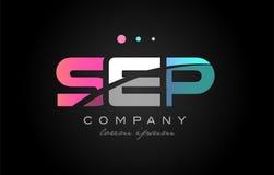 SEP s e p three letter logo icon design Stock Photography