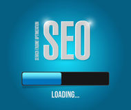 Sep search engine optimization loading bar Royalty Free Stock Photo