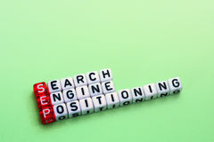 SEP Search Engine Positioning on green Royalty Free Stock Photos