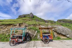 Sep 21,2017 Tricycle Parking at Sabtang Hill, Sabtang island, Ba. Tanes, Philippines Stock Image