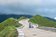 Sep 20, 2017 Tricycle run on the Rolling Hills, Basco, Batanes. Philippines Royalty Free Stock Photo