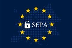SEPA - Одиночная зона оплат евро Стоковые Фото