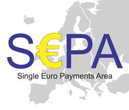 SEPA - Einzelner Eurozahlungs-Bereich stock abbildung