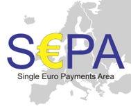 SEPA - Enig Euro Betalingengebied Royalty-vrije Stock Foto