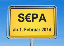 SEPA sign Royalty Free Stock Images