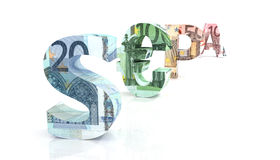 SEPA - Single Euro Payments Area with euro currency Royalty Free Stock Photography