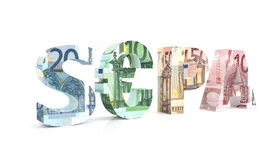 SEPA - Singola euro area di pagamenti con euro valuta Fotografia Stock