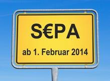 SEPA-tecken Royaltyfria Bilder
