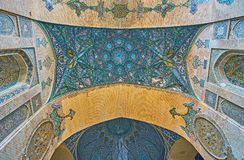 Sepahsalar清真寺,德黑兰装饰细节  免版税库存照片