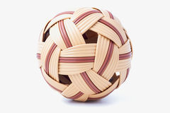 Sepak takraw ball. On white backgrounds Stock Photo