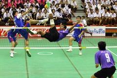 Sepak Takraw: Chonburigame Thailand Stockfotografie
