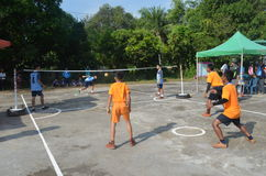 Sepak takraw competition. Within rural Stock Photos
