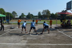Sepak takraw competition. Within rural Royalty Free Stock Images