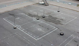Sepak takraw field in the park Stock Images