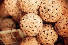Sepak Takraw rattan ball Royalty Free Stock Images