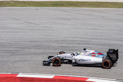 SEPANG - 27 ΜΑΡΤΊΟΥ: Felipe Massa στην τελευταία καμπύλη Στοκ Εικόνες