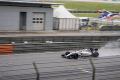 SEPANG - 28. MÄRZ: Felipe Massa, wenn das Qualifizieren geregnet wird Stockfotos