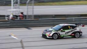 SEPANG - 28. MÄRZ: Frank Yu in Rennen 1 Stockfoto