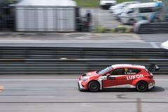 SEPANG - 28. MÄRZ: Sergey Afanasyev in Rennen 1 Stockfotografie