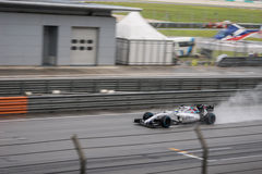 SEPANG - 28 MAART: Felipe Massa in het Regenende Kwalificeren Stock Foto's