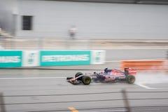 SEPANG - 28 MAART: Max Verstappen in het Kwalificeren Royalty-vrije Stock Foto's